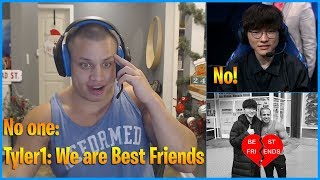 Tyler1: Faker! Are We Best Friends? Faker: No! LoL Daily Moments Ep 761