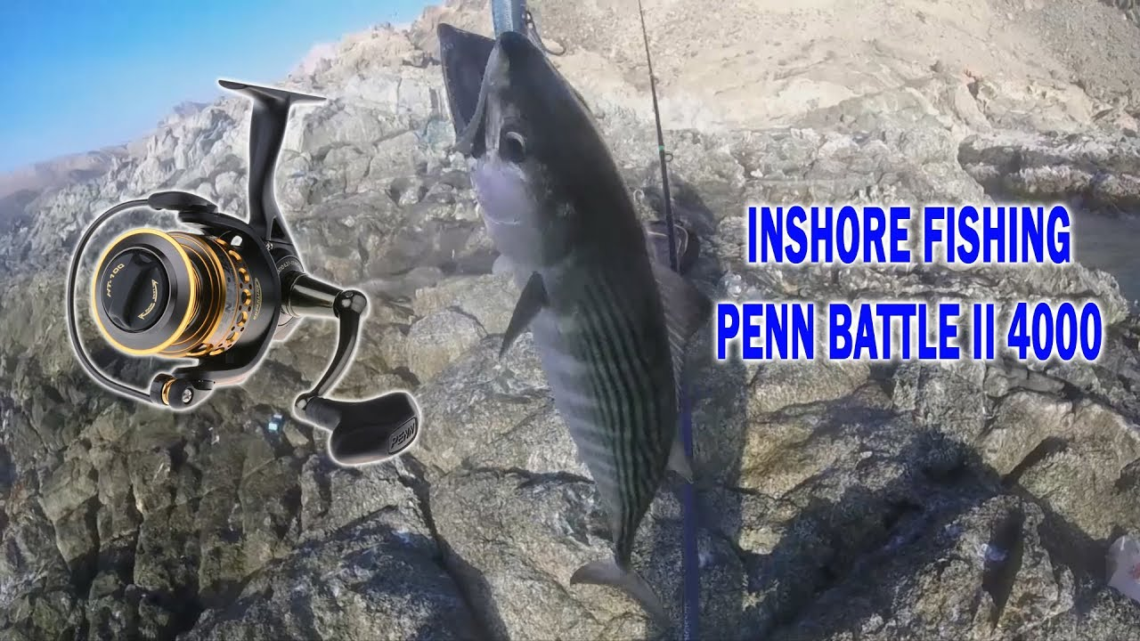 Fishing in Oman, Inshore fishing using light tackle  Penn Battle II 4000