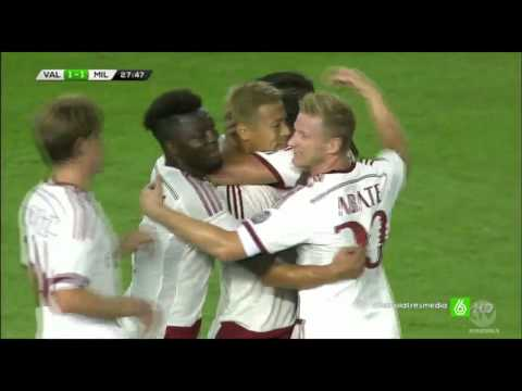 Valencia Vs AC Milan 2-1 All Goals And Highlights Friendly Match 17/08/2014