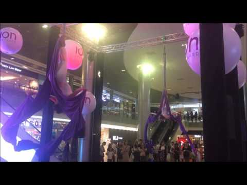 Orchard ION Singapore Shopping Centre Aerial Acrobatic Display March 2016