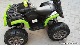 Детский квадроцикл M 3156 EBR-2-5, колеса EVA, черно-зеленый - дисней.com.ua Video