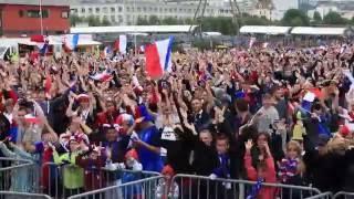 Euro 2016 à Boulogne-sur-Mer - clapping géant des Boulonnais