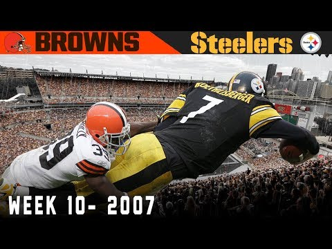 The AFC North on the Line! (Browns vs. Steelers, 2007)   NFL Vault Highlights