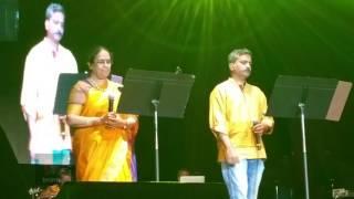 SPB 50 World Tour, Detroit - S. P. B. Charan and S. P. Sailaja sing Malare Mounama