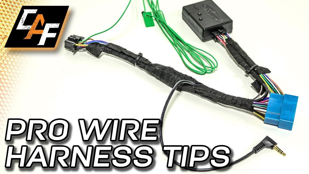 radio wiring harness how to install like a pro youtube rh youtube com Car Subwoofer Wiring Kit Ford Wiring Harness Kits