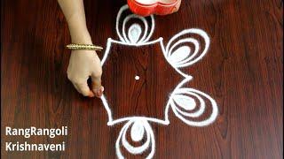 Latest Rangoli Designs with 3*2 dots | Small Daily Kolams | Easy Simple Muggulu | RangRangoli