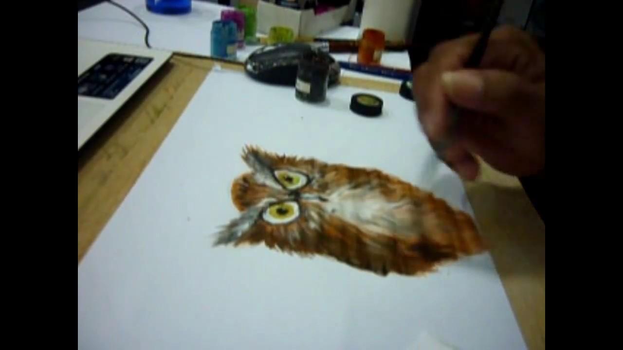 Menggambar Burung Hantu