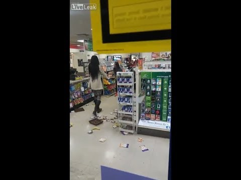 Two Girls go Crazy in Store after caught shoplifting!