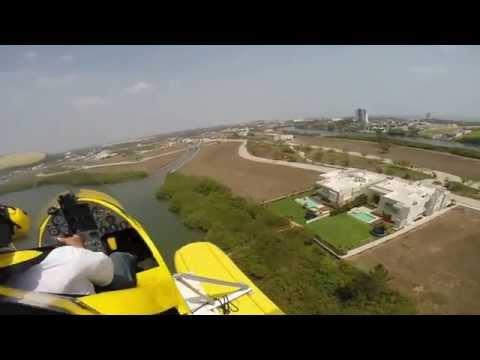 Flying my MTO SPORT AUTOGYRO at the Beach in Veracruz, México.