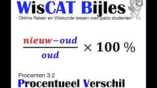 Procentueel Verschil - WisCAT Werkboek: Procenten 3.2