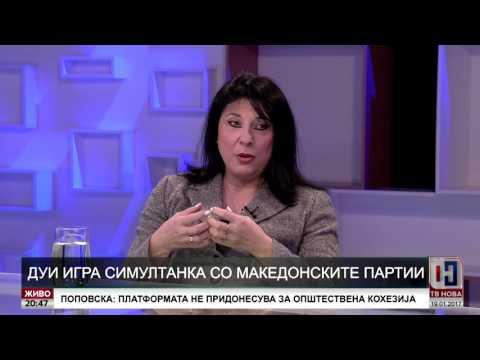 ДУИ игра симултанка со македонските партии - ТВ Нова 19.01.2017