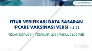 Sosialisasi Update Aplikasi PCare Vaksinasi COVID-19