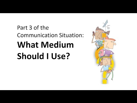 Part 3 of the Communication Situation: What Medium Should I Use?