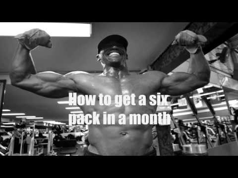 how to get a six pack in two months