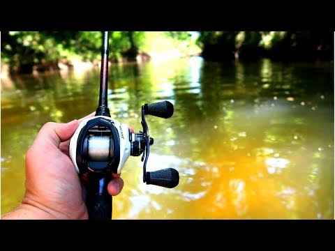 Fishing Tiny Hidden Texas Creek For BASS (1v1 Challenge)