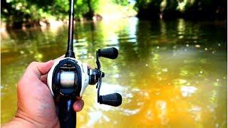 Fishing Tiny Hidden Texas Creek for BASS (1v1 Challenge)