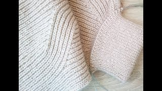 Полупатентная резинка. Вязание спицами. Knit Solo