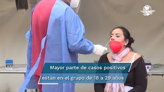Salud dio a conocer que la mayor parte de los casos positivos están presentes en el grupo de 18 a 29 años; desde el inicio de la estrategia de vacunación, en el país se han aplicado 96 millones 80 mil 633 dosis de la vacuna contra el virus