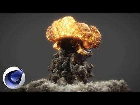 Сногcшибательный взрыв в Cinema 4D (пламя, дым)