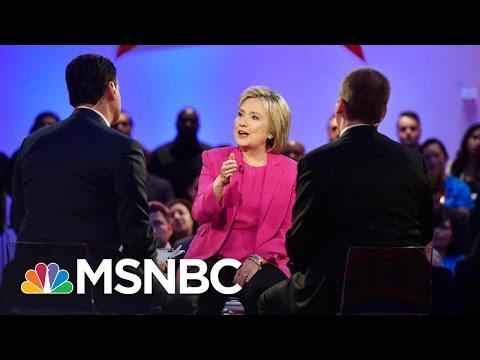 Hillary Clinton - Bernie Sanders Town Hall Part 2   MSNBC