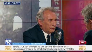 François Bayrou considère que l'affaire Benalla n'est pas une affaire d'État