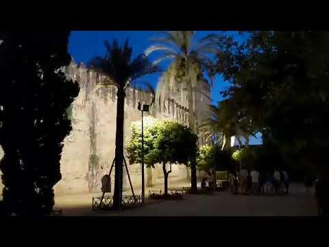 Mal estado de la iluminación nocturna del Alcázar de los Reyes Cristianos de Córdoba