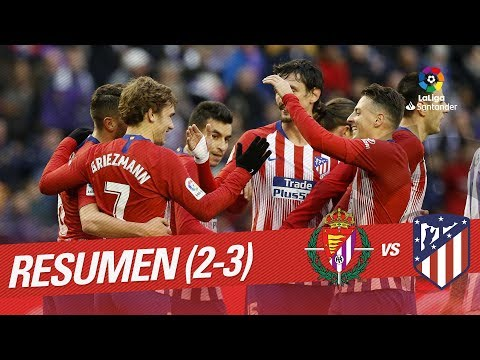 Resumen de Real Valladolid vs Atlético de Madrid (2-3)