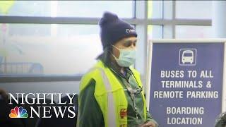Sick Passenger Escorted Off Baltimore Flight As Coronavirus Fears Grow | NBC Nightly News