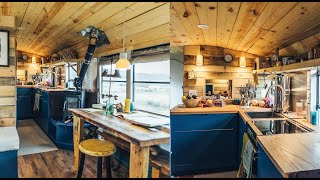 The Most Cleverly Designed School Bus Conversion - A True Apartment On Wheels