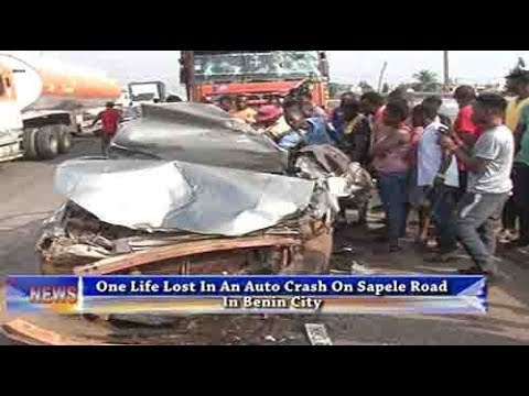 One Life Lost In An Auto Crash On Sapele Road, Benin City