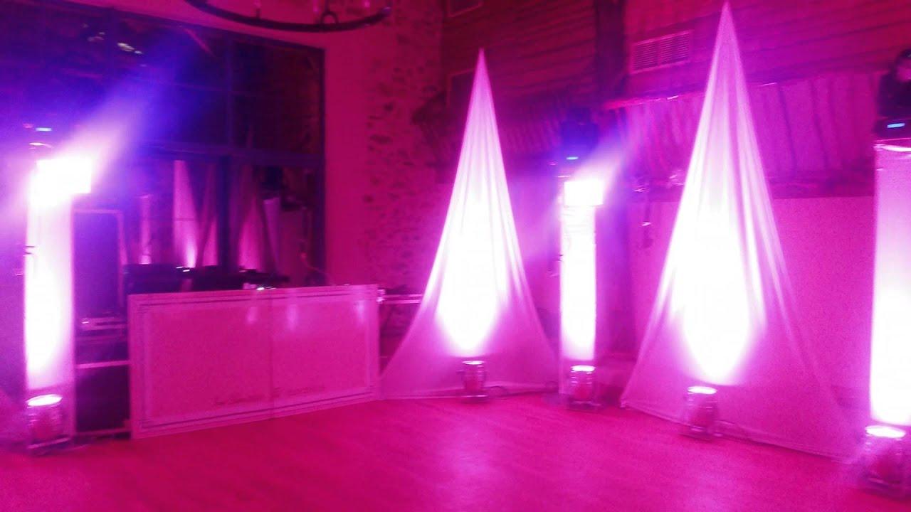 Mise en lumière eclairage salle de mariage