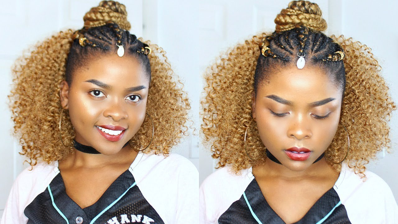 crochet hair styles pictures affordable half up half crochet braids sides 1433