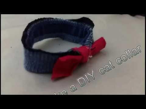 How To Make A Diy Cat Collar No Stitch Youtube