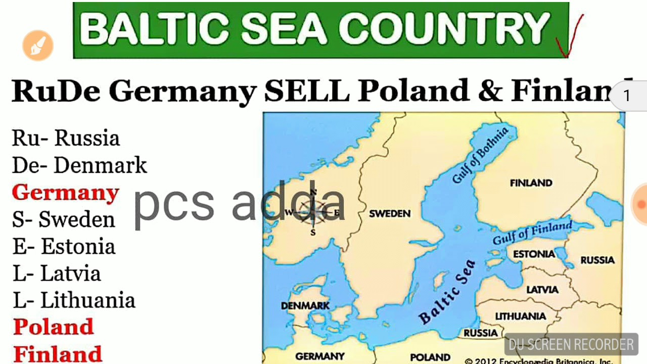 Map Of Countries Near Germany.Trick To Remember Country Around Baltic Sea