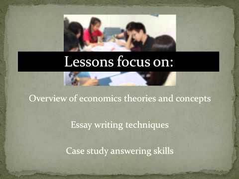 Tuition for JC Economics