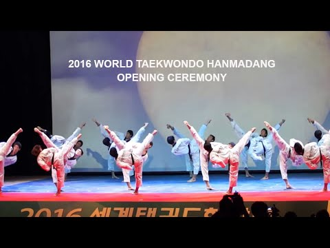 2016 World Taekwondo Hanmadang Opening Ceremony Kukkiwon Demonstration part1