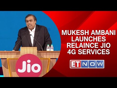 Mukesh Ambani Launches Relaince Jio 4G Services