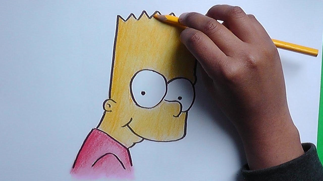 Dibujando y pintando a Bart (Los Simpson) - Drawing and painting to ...