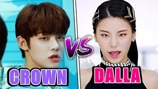 TXT CROWN VS ITZY DALLA DALLA (TEASER,INTRO AND MORE)