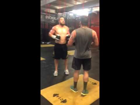 "James ""Big Country"" Anderson and Christian Anderson sparring @ CIA"