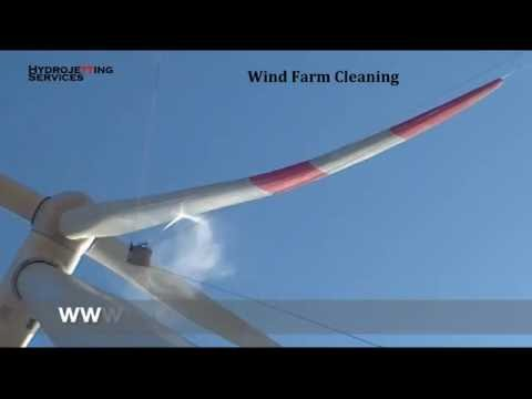 Wind Turbine Blade Cleaning Services - Hydrojetting Services
