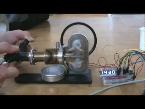 Stirling Engine, Measure Rotation Speed with Arduino and Hall Effect Sensor