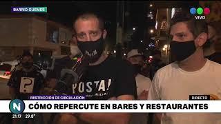 Cómo repercute la restricción en los bares y restaurantes