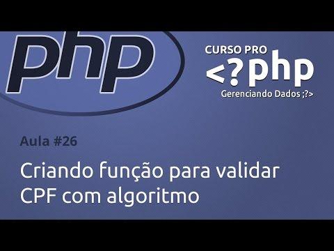 Criando função para validar CPF com algoritmo (aula #26)