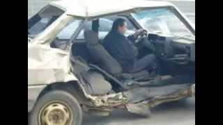 Auto ohne Tür! - im Straßenverkehr