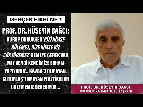 Prof. Dr. Hüseyin Bağcı: Kavgacı olmayan, kutuplaştırmayan politikalar üretmemiz