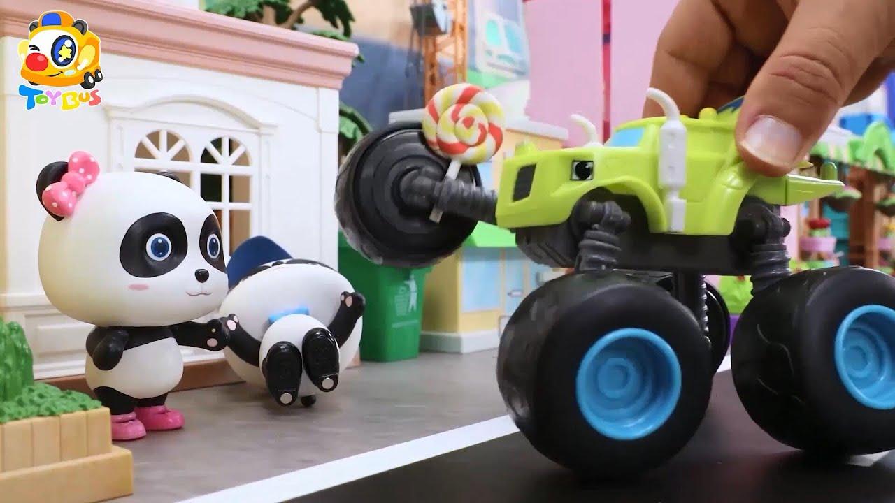 警車抓住壞蛋車 | 寶寶玩具 | 兒童玩具 | 玩具巴士