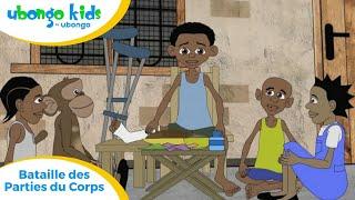 ÉPISODE # 18: Bataille des Parties du Corps! | Ubongo Kids | Dessin animé éducatif d'Afrique