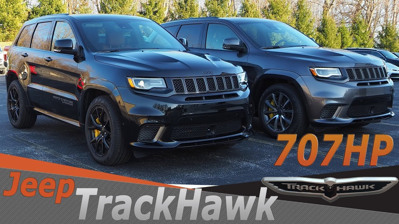 707ЛС Джип Гранд Чероки TrackHawk видео. Тест драйв 2018 Jeep Grand Cherokee Trackhawk 707HP.