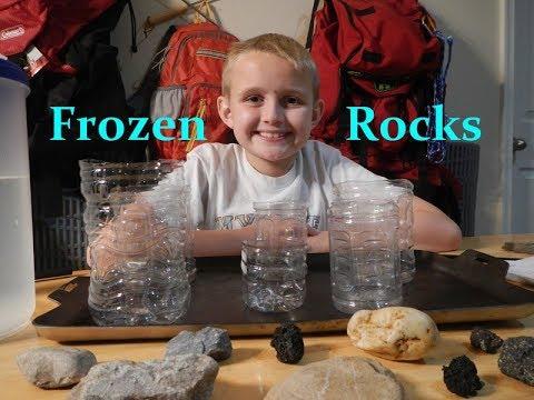 Frozen Rock Experiment (Timelapse)
